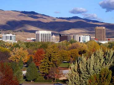 The Boise skyline in Fall