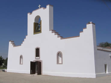 Socorro Mission glows in the Texas sunshine