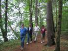 Partners enjoy the beauty of the Seekonk Area Trails