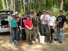 Work crew at Tillinghast Pond Management Area