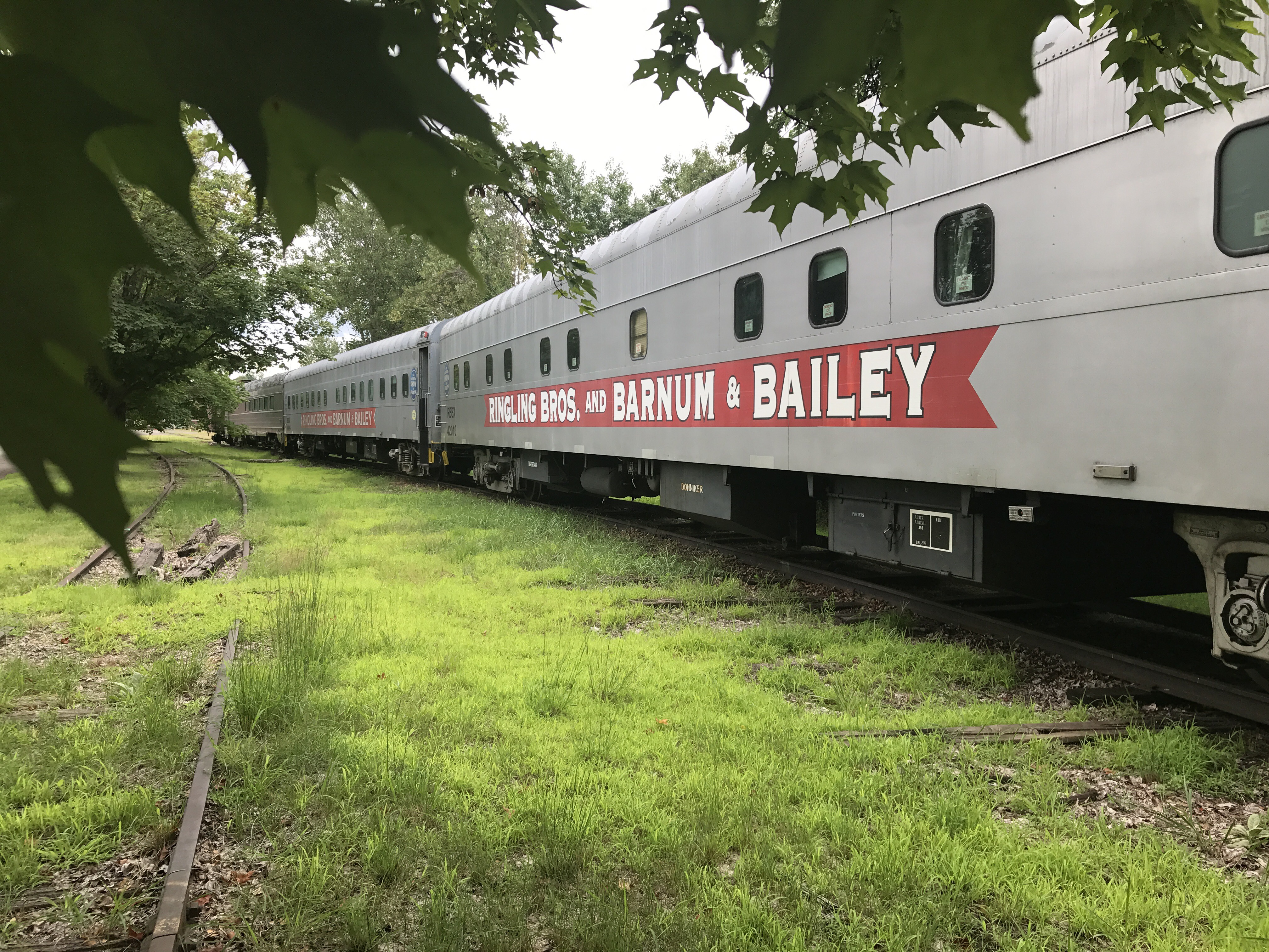 Former Ringling Bros and Barnum & Bailey circus cars