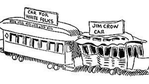 """White"" and ""Jim Crow"" streetcars; racial segregation in the United States as cartooned by John McCutcheon"