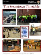 Steamtown Timetable Spring 2009 cover image