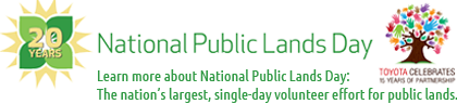 National Public Lands Day 2013 logo
