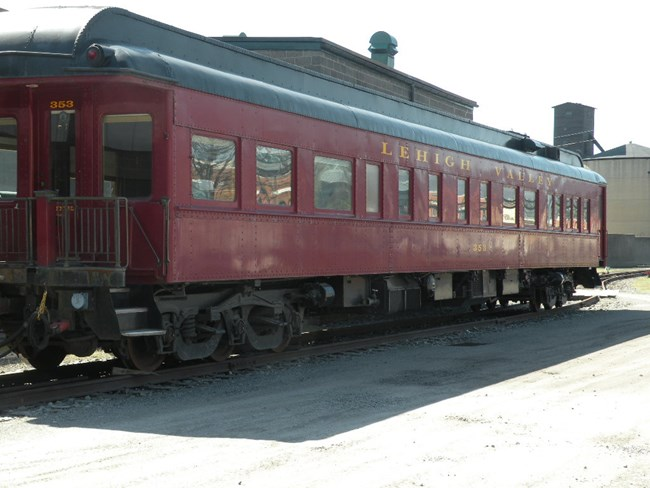 Lehigh Valley Business Car #353 in Cornell Red paint