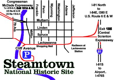 Street Map for Steamtown NHS