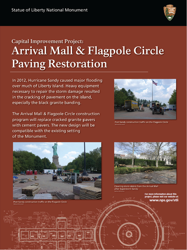 Arrival Mall and Flagpole Paving Restoration