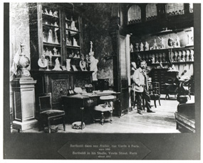 Auguste Bartholdi in His Studio