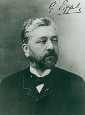 A portrait of Alexandre-Gustave Eiffel.