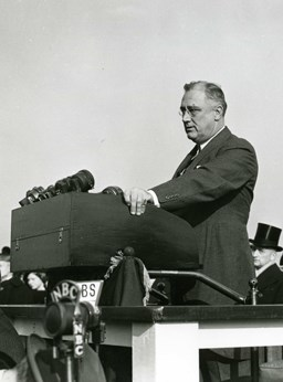 President Franklin D. Roosevelt's 1936 speech in honor of the Statue's 50th anniversary.