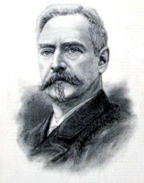 An illustration of Richard Morris Hunt from Harper's Weekly in 1886.