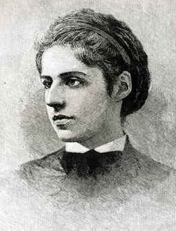 A portrait of Emma Lazarus.