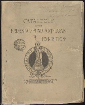 Catalog of the Pedestal Loan Art Exhibit.
