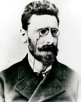 A portrait of Joseph Pulitzer.