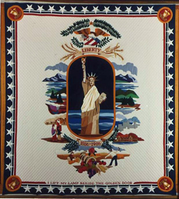 A quilt manufactured by the Skiadas Brothers, circa 1985