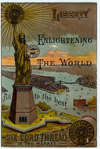 A Statue of Liberty trade card