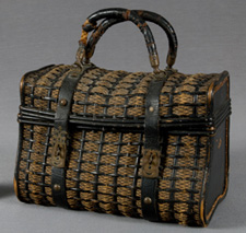A wicker pocketbook