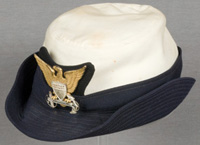 A Coast Guard hat of the Women's Reserve (SPARs) c. 1946-1947