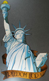 Poster of Statue of Liberty c. 1986