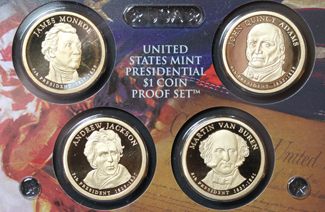 Commemorative coins featuring United States Presidents c. 2008
