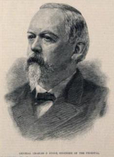 An illustration of Charles P. Stone from Harper's Weekly in 1886.