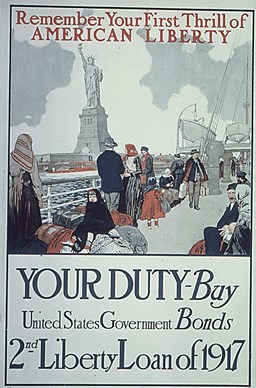This poster, circa 1917, promoted the sale of Liberty Bonds.