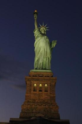 Statue of Liberty lit by new lighting system