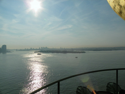 A view from the Statue of Liberty's torch