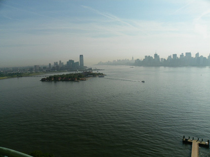 NYC & Ellis Island from Liberty's torch