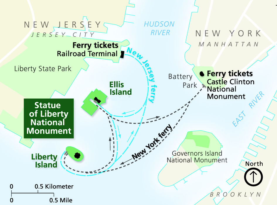 Directions Statue Of Liberty National Monument US National Park
