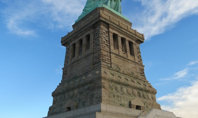 Statue of Liberty's pedestal