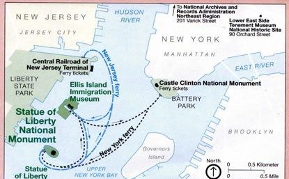 Map Of New York Islands.Ferry System Map Statue Of Liberty National Monument U S