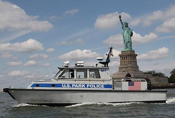 US Park Police Marine Patrol Boat at Statue of Liberty NM