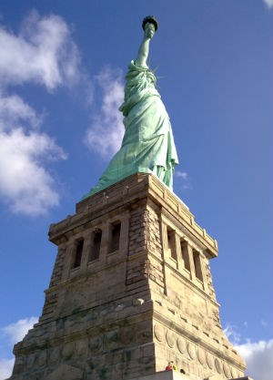 Statue of Liberty and Pedestal