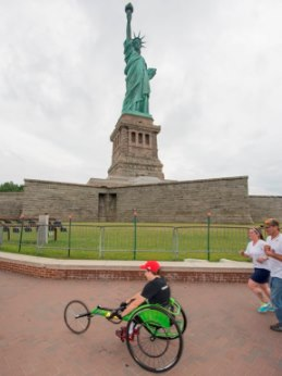 Wheelchair at the Statue of Liberty.