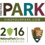 National Park Service's Centennial and Find Your Park Logos
