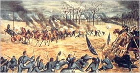 Illustration of the Battle of Stones River.