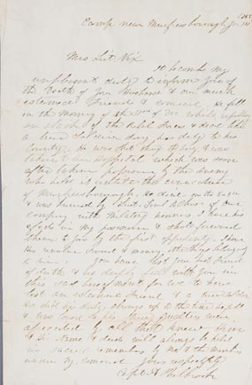 Letter announcing the death of Christian Nix.