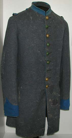 Kentucky State Guard coat worn by Henry Hall of the 4th Kentucky Infantry, CSA