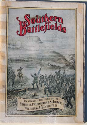 Cover of a railroad tour brochure - Southern Battlefields