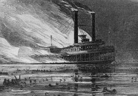 skecth of the Sultana disaster.