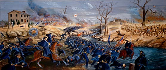 Painting of the Battle of Stones River