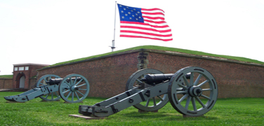 Flag & Cannon Fort McHenry