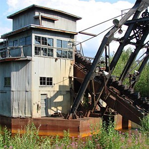 Coal Creek bucket line dredge