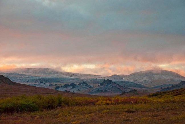 Bering Land Bridge in the fall