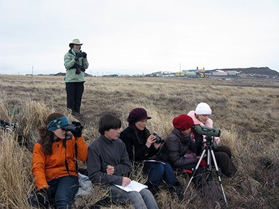 students in the field during expedition Anadyr