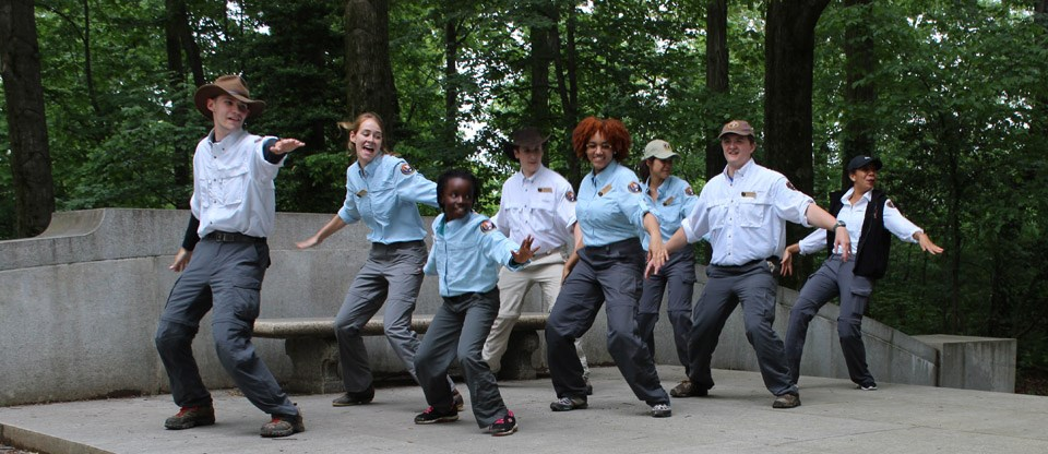 Youth Ambassadors busting out moves for the BioBlitz Dance