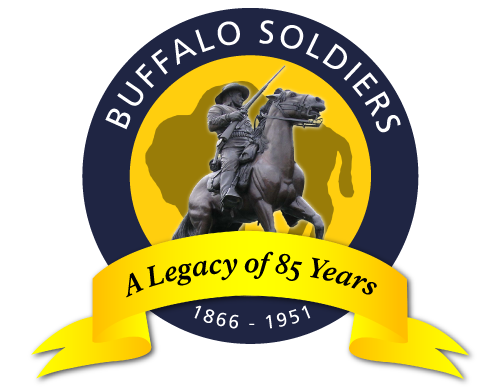 A yellow and blue circle with a soldier on a horse in the center