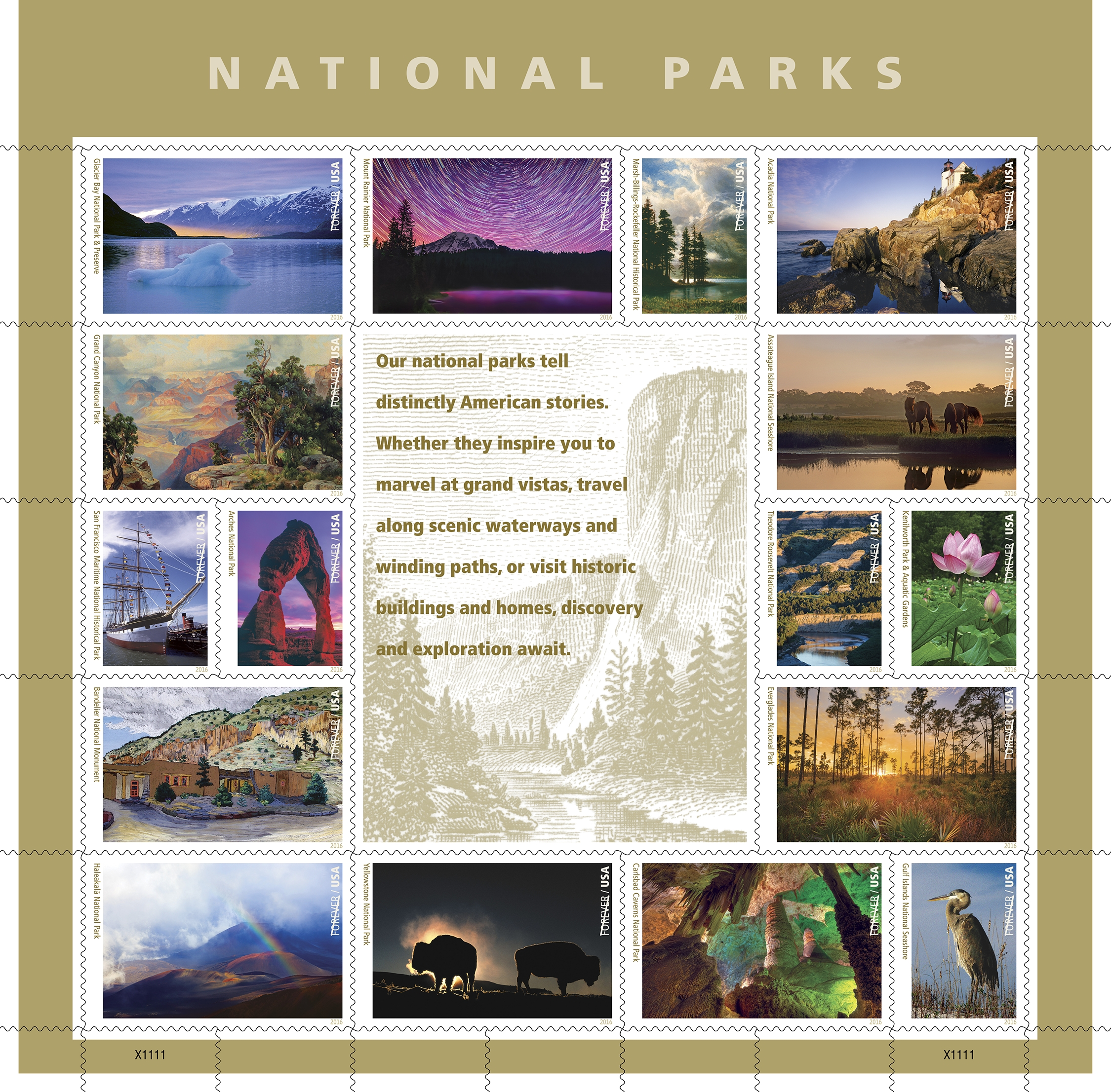 Centennial Stamps Centennial Us National Park Service - United-states-forever-stamps
