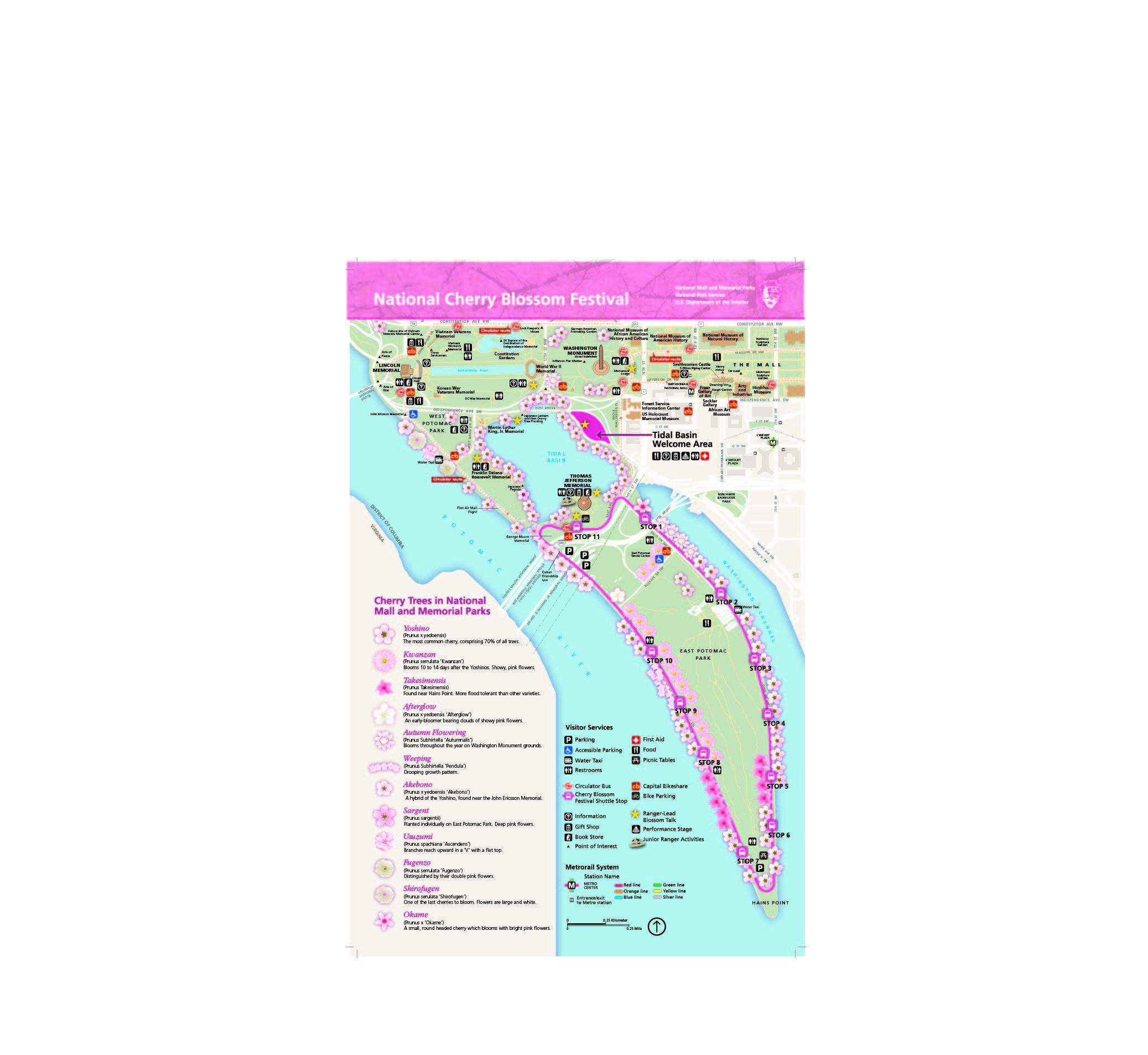 Directions Cherry Blossom Festival U S National Park Service